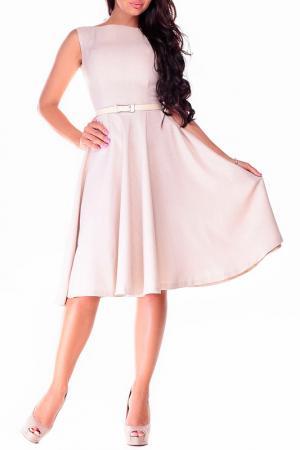 Платье-сарафан REBECCA TATTI. Цвет: бежевый