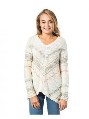 Пуловер  ALBARCA SWEATER Rip Curl. Цвет: розовый, кремовый, персиковый