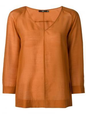 Блузка с V-образным вырезом Stills. Цвет: жёлтый и оранжевый