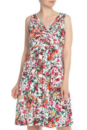 Платье с цветочным принтом, запахом Apanage. Цвет: мультиколор