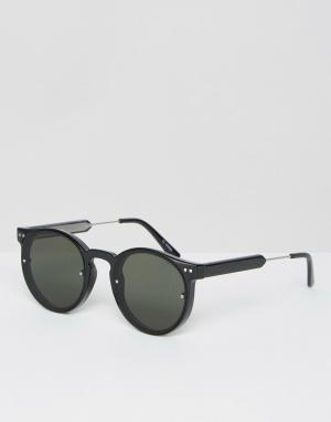 Spitfire Круглые солнцезащитные очки. Цвет: черный