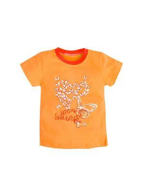 Футболка Машук. Цвет: малиновый, оранжевый