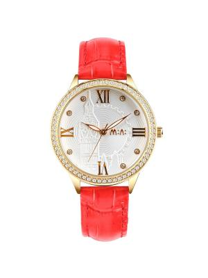 Наручные часы MN20212red Mini.. Цвет: серебристый, красный