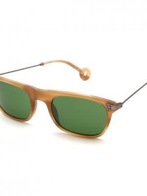 Солнцезащитные очки HS 543S 04 HALLY & SON. Цвет: бежевый, бронзовый, коричневый