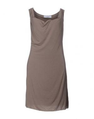 Короткое платье KAOS. Цвет: голубиный серый