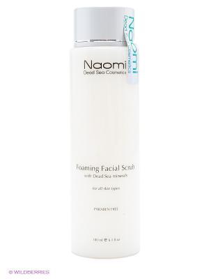 Пенящийся скраб для лица Naomi Dead Sea Cosmetics. Цвет: белый