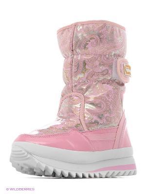 Дутики женские Mon Ami. Цвет: розовый