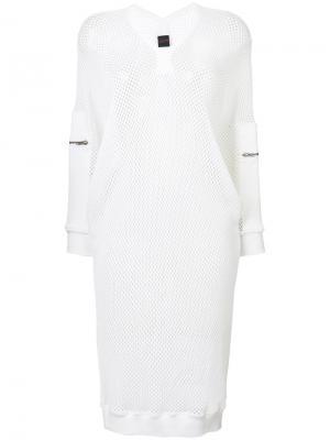 Спортивное сетчатое платье миди Jean Paul Gaultier Vintage. Цвет: белый