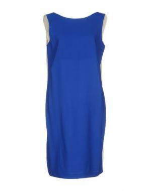 Короткое платье JO NO FUI. Цвет: синий