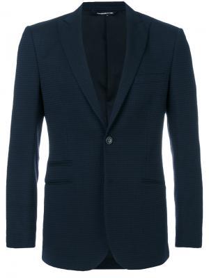 Пиджак с узором в ломаную клетку Tonello. Цвет: синий