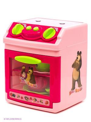 Плита Маша и Медведь Играем вместе. Цвет: розовый