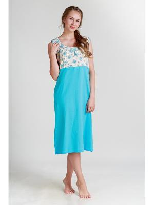 Ночная сорочка Pastilla. Цвет: голубой, бежевый