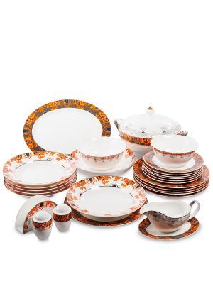 Столовый сервиз на 6 перс. Риомаджоре (Riomaggiore Pavone) Pavone. Цвет: белый,оранжевый