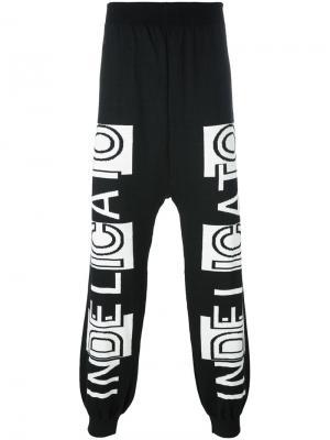 Спортивные штаны с принтом Indelicato Nicola. Цвет: чёрный