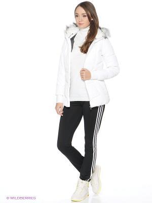 Пуховик W LONG DWN JKT Adidas. Цвет: белый