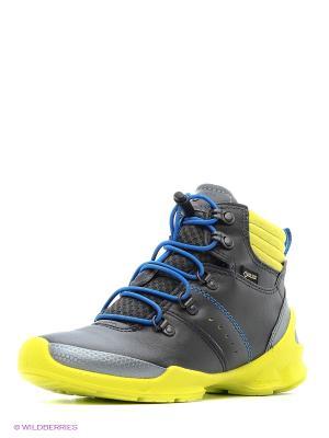 Ботинки ECCO. Цвет: желтый, серый