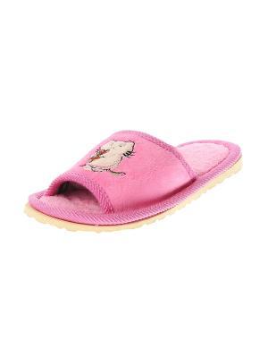 Тапочки домашние детские Migura. Цвет: розовый, зеленый, бежевый, красный