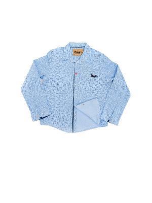 Рубашка Pilota. Цвет: голубой