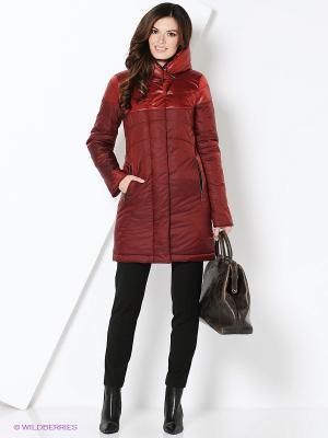 Пальто D`imma. Цвет: темно-красный