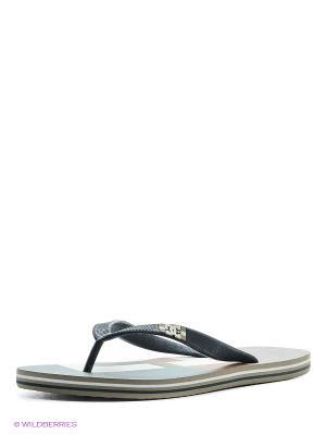 Шлепанцы DC Shoes. Цвет: светло-серый, кремовый