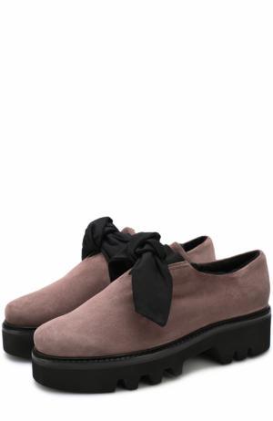 Замшевые ботинки Fabula с внутренней отделкой из овчины Walter Steiger. Цвет: коричневый
