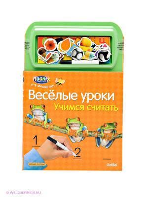 Магнитная книжка-игра Учимся считать Играй-изучай. Цвет: оранжевый