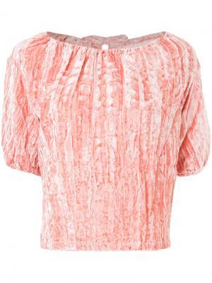 Блузка с помятым эффектом Rejina Pyo. Цвет: розовый и фиолетовый