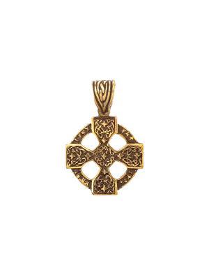 Амулет защитный Рунический крест Aztek. Цвет: желтый