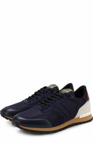 Комбинированные кроссовки  Garavani Rockrunner Valentino. Цвет: темно-синий