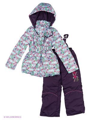 Комплект для девочки демисезонный /куртка, полукомбинезон/ Rusland. Цвет: серо-голубой, серо-зеленый, светло-голубой