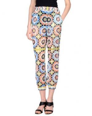 Повседневные брюки MIAHATAMI. Цвет: белый