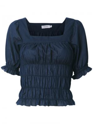 Блузка со сборками Isolda. Цвет: синий