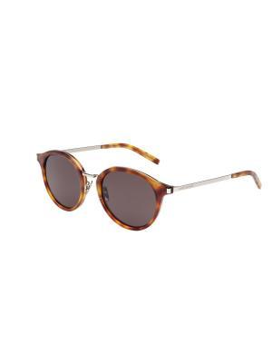 Солнцезащитные очки Saint Laurent. Цвет: зеленый