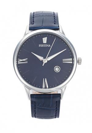 Часы Festina. Цвет: синий