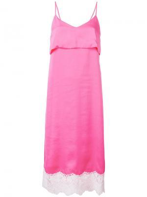 Платье-комбинация Sjyp. Цвет: розовый и фиолетовый