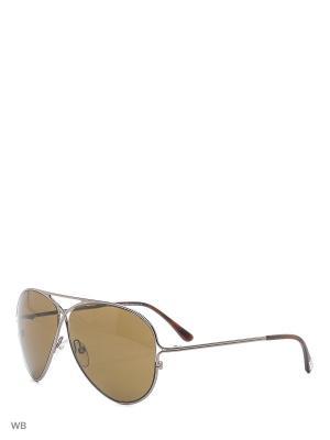 Солнцезащитные очки FT 0142 10J Tom Ford. Цвет: серебристый, коричневый