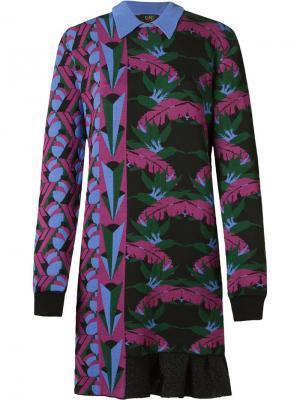 Foliage pattern knit dress Gig. Цвет: чёрный