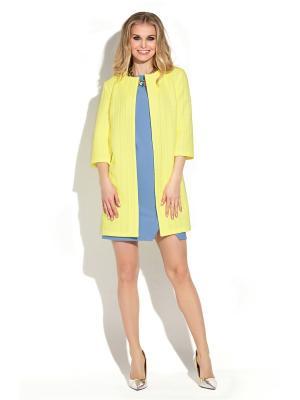 Жакет Donna Saggia. Цвет: светло-желтый