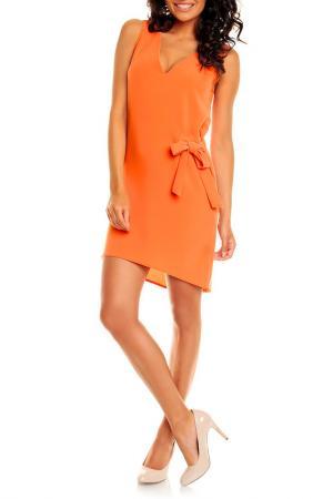 Платье NOMMO. Цвет: оранжевый