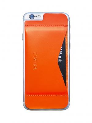Кошелек-накладка для iPhone 6/6s ZAVTRA. Цвет: оранжевый