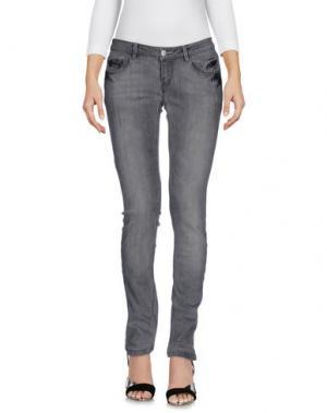 Джинсовые брюки POORICH. Цвет: серый