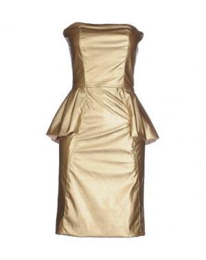 Короткое платье MACRÍ. Цвет: золотистый
