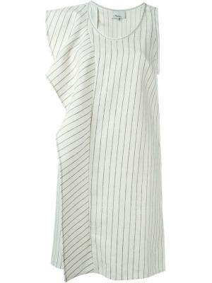 Асимметричное платье с оборками 3.1 Phillip Lim. Цвет: белый