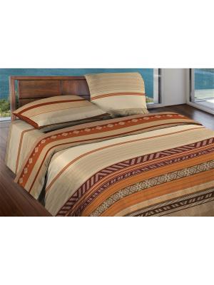 Комплект постельного белья 2,0  бязь Dakar Wenge. Цвет: темно-коричневый, бежевый, коричневый