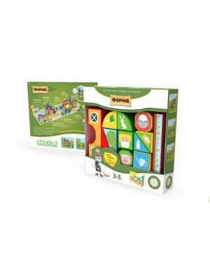 Пластиковые кубики Зоопарк Magneticus. Цвет: белый