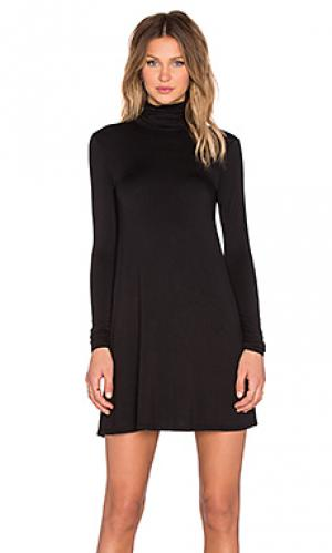 Платье с воротником-водолазка penny LA Made. Цвет: черный