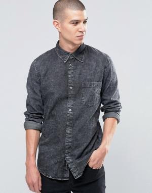 Cheap Monday Мраморная джинсовая рубашка Rude. Цвет: серый