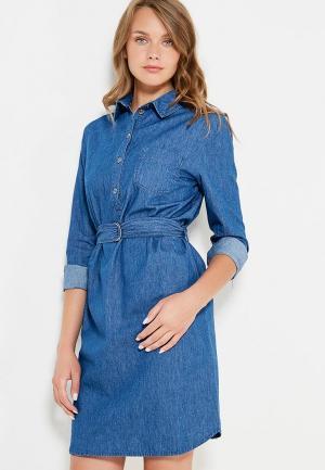 Платье джинсовое Bestia. Цвет: синий