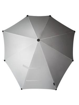 Зонт-трость senz Original shiny silver. Цвет: серебристый