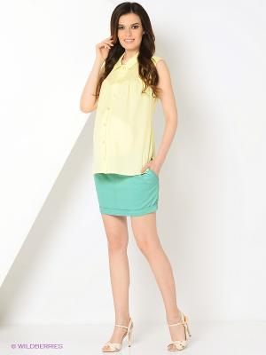 Блуза EUROMAMA. Цвет: желтый